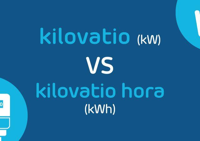 ¿Cuál es la diferencia entre kW y kWh?