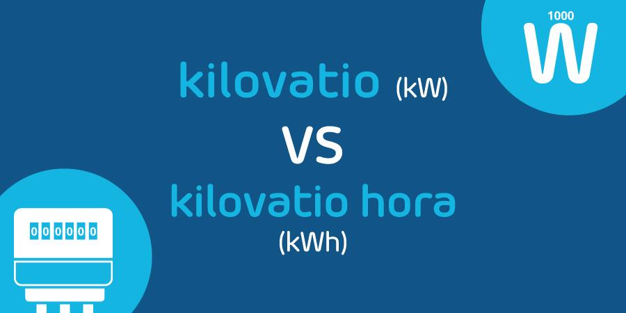 diferencia entre kW y kWh