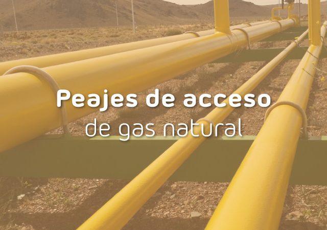 peajes de acceso del gas
